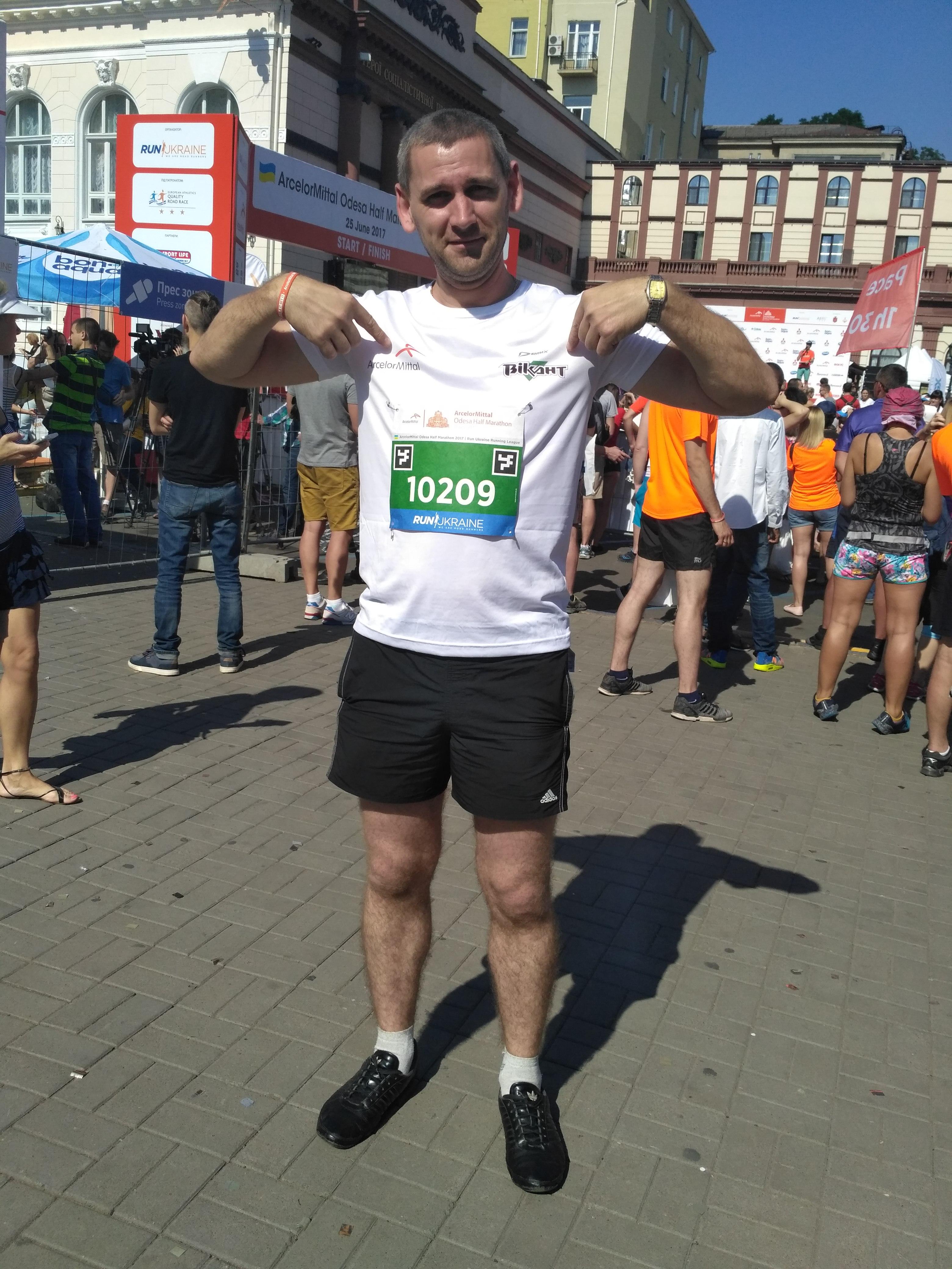 Викант на марафоне в Одессе