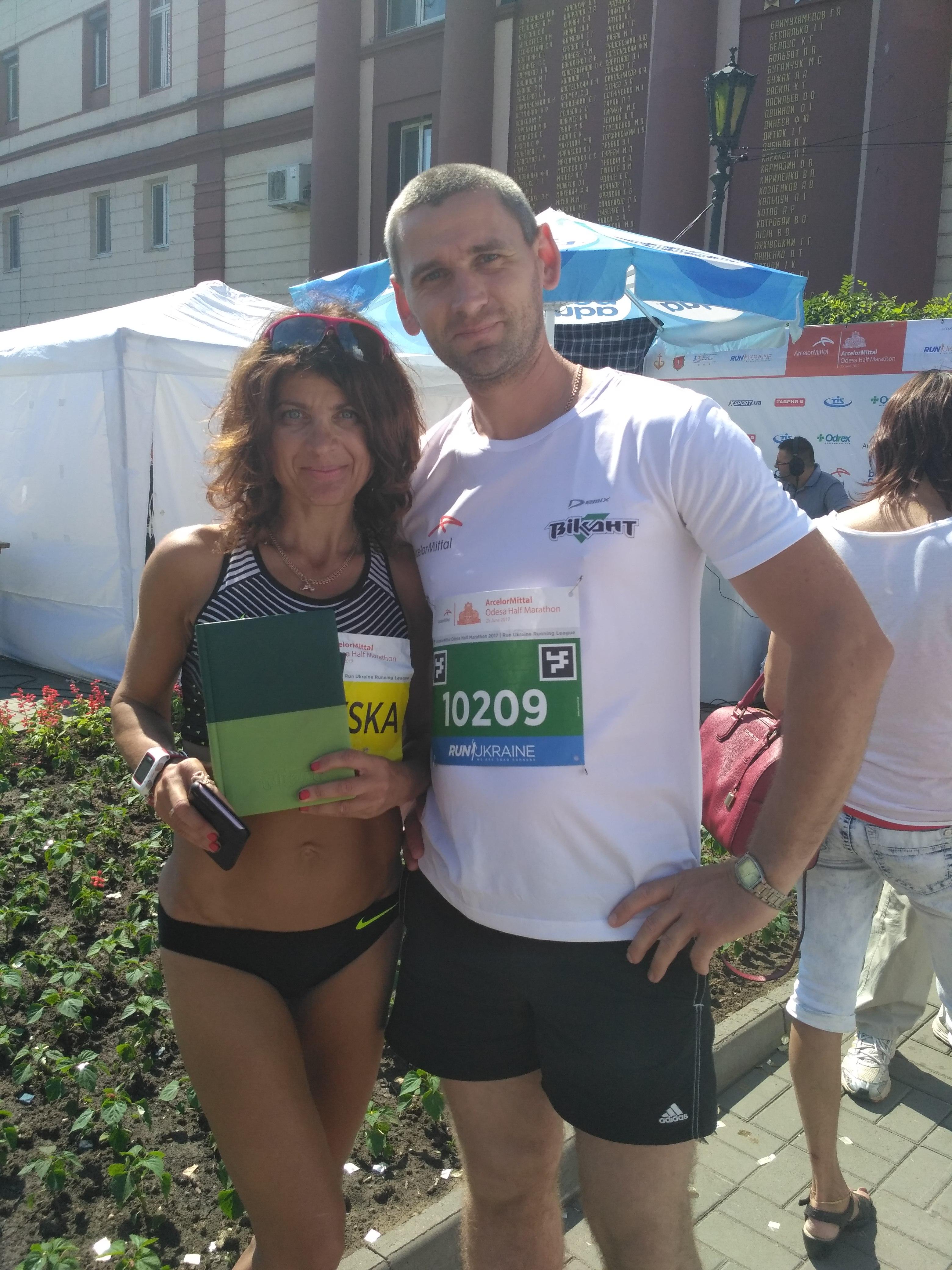 Викант с Валентина Полтавская на ArcelorMittal Odesa Half Marathon 2017